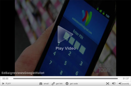Google Wallet's tap-and-pay system is simple.