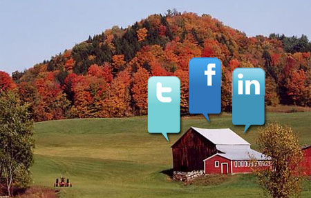 Social media connect farmers with local customers.